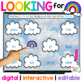 Rainbow Hide and Seek Game for Letters & Sight Words