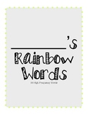 Rainbow High Frequency Word Packet