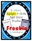 Rainbow, Highlight, & Write Sight Word FREEBIE (Journeys s