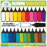 Rainbow Highlighters Clip Art