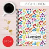 Rainbow Homeschool Planner (5 kids, 5 days, Monday-Friday)