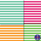Rainbow Horizontal Stripes for Bulletins, Backgrounds & More!