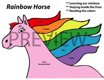 Rainbow Horse Worksheet