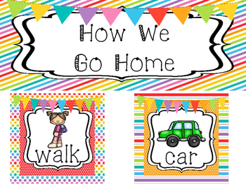 Rainbow How We Go Home Printable Chart. Classroom  Management.