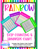 Rainbow Hundreds Charts and Skip Counting