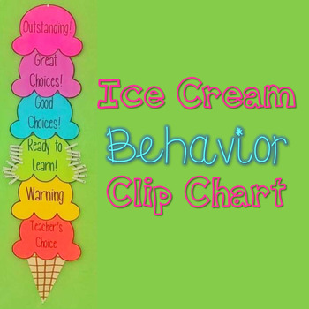 Rainbow Ice Cream Behavior Clip Chart
