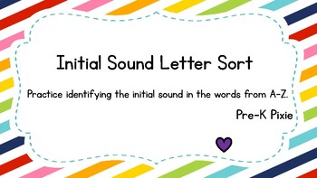 Rainbow Initial Sound Sort