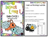 Rainbow Insect Long I CVCe Words Fast Finisher Phonics Long Vowel Center