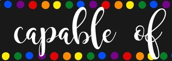 Rainbow Inspirational Classroom Banner - You are capable of amazing things!