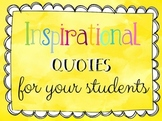 Rainbow Inspirational Quotes for Your students