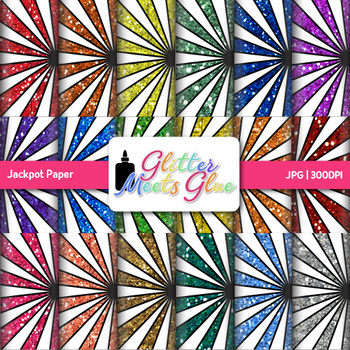 Rainbow Jackpot Paper {Scrapbook Backgrounds for Circus & Carnival Ideas}