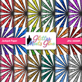 Rainbow Jackpot Paper {Scrapbook Backgrounds for Circus &
