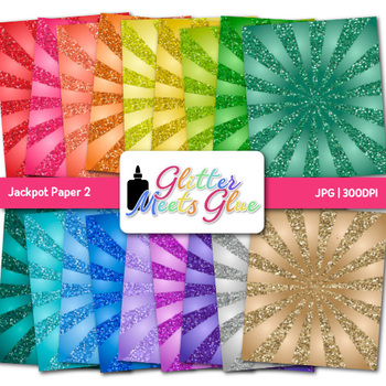 Rainbow Jackpot Paper | Scrapbook Backgrounds for Circus & Carnival Ideas 2