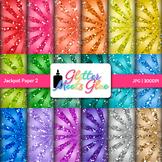 Rainbow Jackpot Scrapbook Paper Backgrounds 2 {Glitter Mee