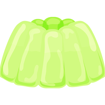 Rainbow Jelly or Jello Dessert Clip Art Set for Commercial Use