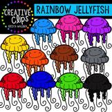 Rainbow Jellyfish {Creative Clips Digital Clipart}