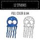 Rainbow Jellyfish - Laugh and Learn Clip Art