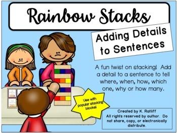 Rainbow Jenga:  Adding Details to Sentences