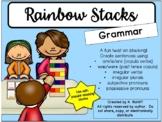 Rainbow Jenga:  Grammar Game