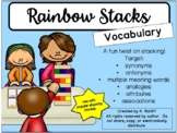 Rainbow Jenga:  Vocabulary Game