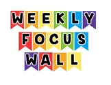 Rainbow Journeys Focus Wall I Can Statements: Kindergarten