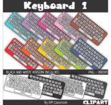 Rainbow Keyboard Gray Keys Clip Art