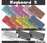 Rainbow Keyboard Color Keys Clip Art
