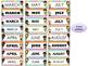 Rainbow Kids Calendar - Month & Days of the Week Headers,