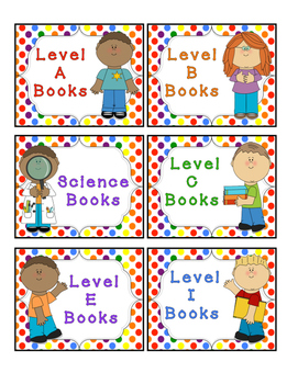 Rainbow Kids Leveled Book Labels