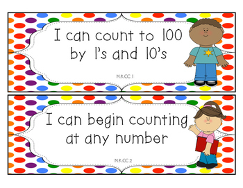 Rainbow Kids - Math, Reading and Writing Common Core Standards for Kindergarten