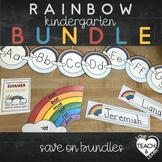 Rainbow Decor and Literacy Kindergarten Bundle
