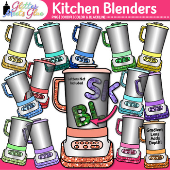 Blend & Digraph Clip Art {Kitchen Blenders for Word Families, ELA Use}