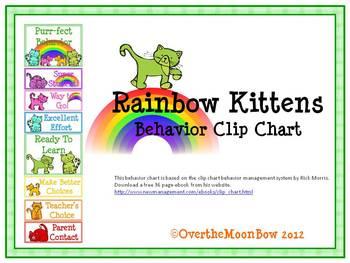 Rainbow Kittens Behavior Clip Chart