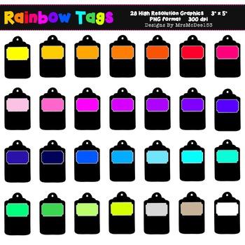 Rainbow Label Clip Art - 28 Graphics
