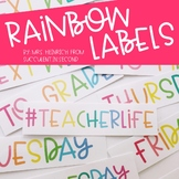 Rainbow Labels
