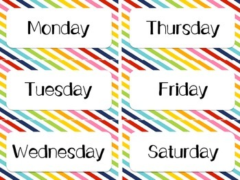 Rainbow Labels for Classroom Decor: Supplies, Days, Months, Subjects, & More