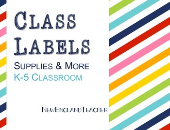 Rainbow Labels for Classroom Decor: Supplies, Days, Months