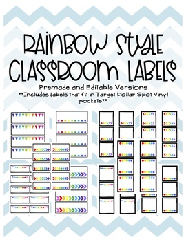 Rainbow Labels for the Classroom (Premade and Editable!)