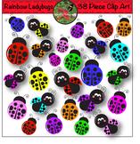 Rainbow Ladybug Clip Art