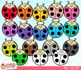 Rainbow Ladybugs Clip Art