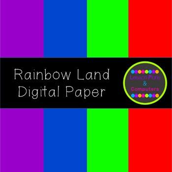 Rainbow Land Digital Paper Pack
