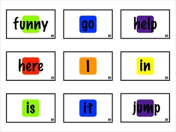 Rainbow Lane Dolch Sight Word Game Cards