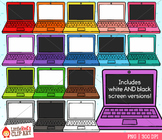 Rainbow Laptops Clip Art