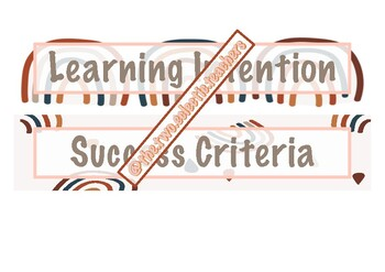 Rainbow Learning Intention and Success Criteria + BONUS