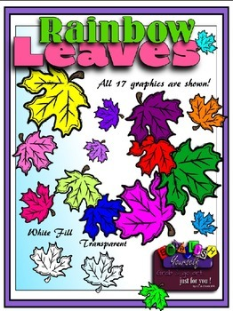 Rainbow Leaves Clipart (Embellish Yourself Artworks)