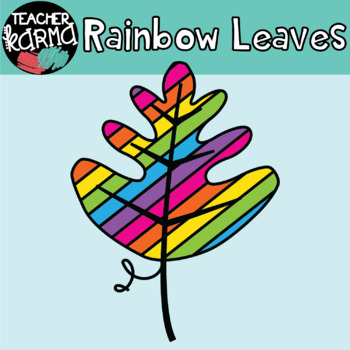 Rainbow Leaves - Doodle Clipart (FREE today)