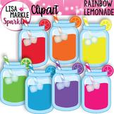 Mason Jar Clipart Rainbow