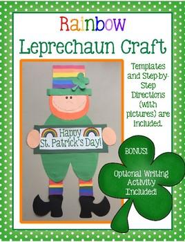 Rainbow Leprechaun Craft & Writing Activity