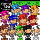 Rainbow Leprechauns {Creative Clips Digital Clipart}