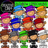 Rainbow Leprechauns {Creative Clips Digital Clipart}